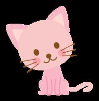 ピンクの猫