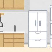 冷蔵庫のある台所
