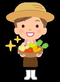 女性の野菜農家のイラスト