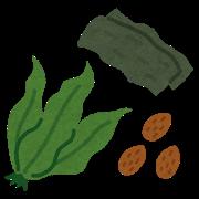 海藻とナッツのイラスト