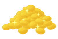 たくさんの金貨のイラスト