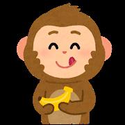 舌を出す猿のイラスト