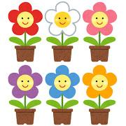 笑顔の鉢植えのイラスト
